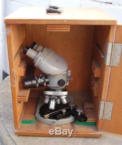 OLYMPUS MJ Binocular Microscope 4 Objectives