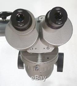Olympus Stereomikroskop Stereolupe VT-II Stemi / Vergr. 10x + 20x / Boom Stand