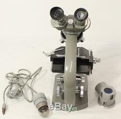 Olympus Tokyo 215353 Microscope with Lenses+ Wooden Case
