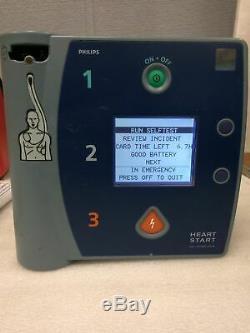 Philips Heart Start Fr2+ Defibrillator Medical Equipment +2xBattery/SmartPads II