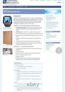 Psoriasis eczema UVB Narrow Band Phototherapy FOLDALITE 3 Medical Equipment