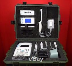 SonoSite 180 Plus Portable Ultrasound System with Transducer/Probes/Charge WORKING