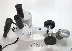 Stereolupe Stemi Stereomikroskop Vergrößerung 15x mit Schwenkarm + Beleuchtung