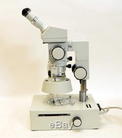 Stereomikroskop Technival 2 Carl Zeiss Jena m. Seltenem Durchlicht-Tisch (S012)