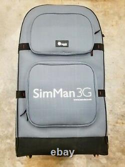 USED Laerdal SimMan 3G Manikin equipment Rolling Suitcase Case Medical Dummy
