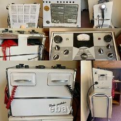 Used vintage Medco-sonlator medical equipment with rolling cabinet