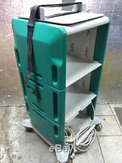 Valleylab Medical Equipment 2 Shelf Mobile Rolling Cart with 2 x Power Strips