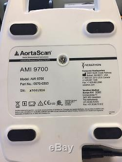 Verathon AMI 9700 AortaScan System With Batteries, Charger and Calibration Unit