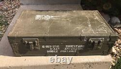 Vintage 1950s-60s Military Medical X-ray Equipment Chest