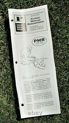 Vintage 1976 Puritan Bennett Manual Resuscitator with Case CPR Medical Equipment