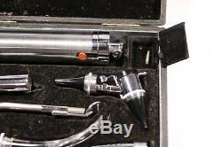 Vintage Coldlite Otoscope, Original case with accessories Ear, Medical Equipment