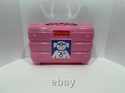 Vintage Fisher Price Girl's Pink Toy Doctor Set Kit Medical Equipment