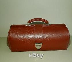 Vintage Old Doctor bag with Medical Equipment inside, First Aid Bag, Medical bag