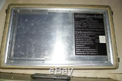 Vintage military medical equipment aerosol inhalation set complete metal case