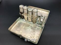 WW2 Japanese military medical equipment carrying cases, medicine bottles, etc