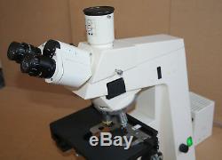 Zeiss Mikroskop Microscope Axioskop + Trinokulartubus + Plan-Neofluar Objektive
