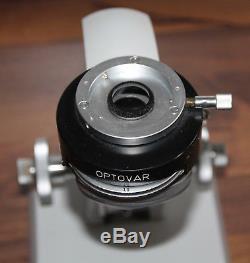 Zeiss Mikroskop Microscope Standard WL Stativ mit Optovar