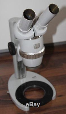 Zeiss Mikroskop Microscope Stereomikroskop mit Stativ