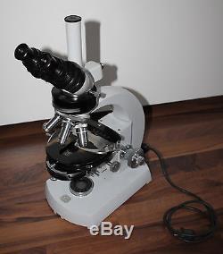 Zeiss Mikroskop Microscope WL mit Trinokulartubus und Phasenkontrast