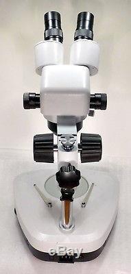 Zoom Stereomikroskop Stereolupe Stemi Vergrößerung 10x. 40x + Durchlichtstativ